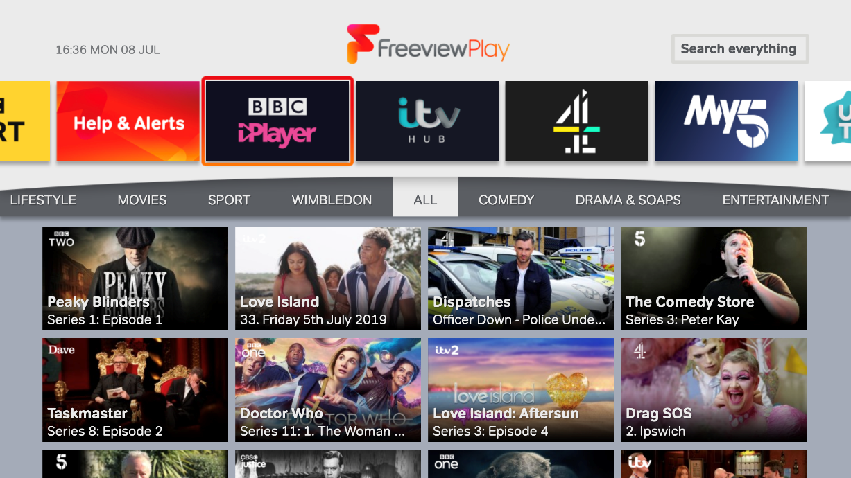 channel 100 freeview play