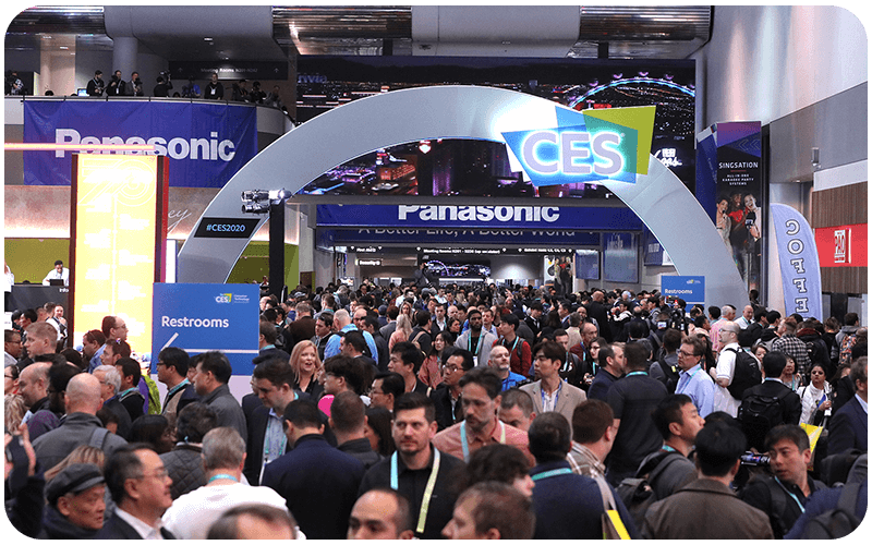 Crowds attending opening of CES 2020