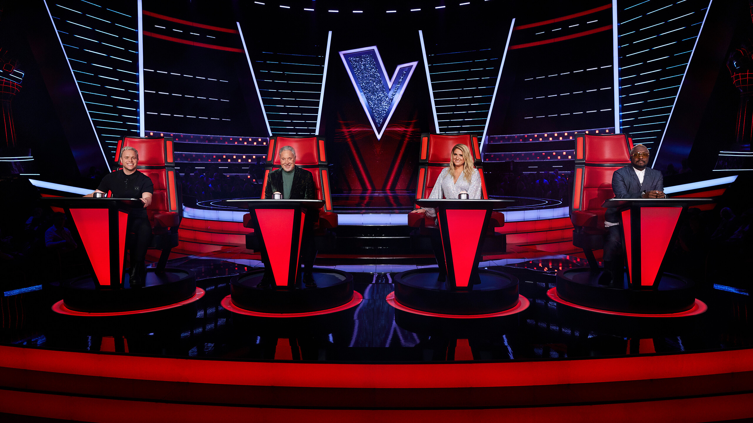 The Voice - panel of four judges