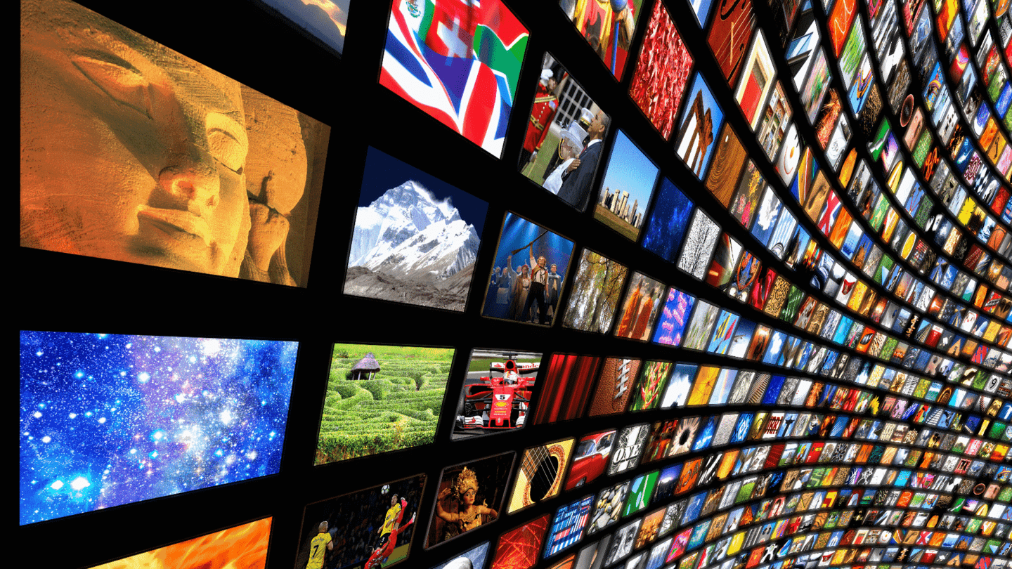 Image showing hundreds of screens displaying different content