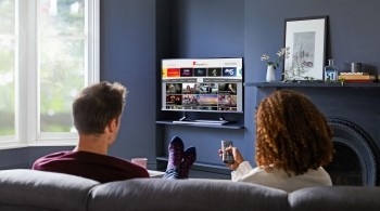 Freeview Play publicity couple viewing