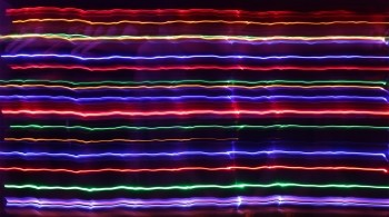 Multi-coloured neon lines