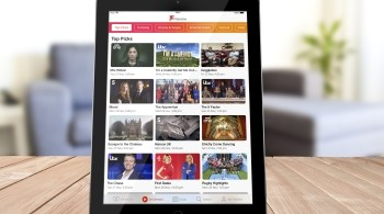 Freeview App on a tablet showing on demand content