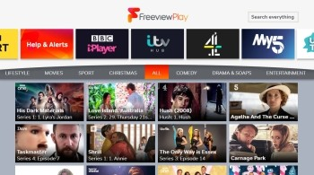 Channel 100 Freeview Play screen