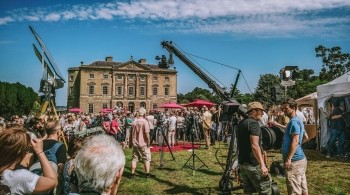 Image of Antiques Roadshow being filmed
