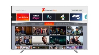 Toshiba TV on the Explore Freeview Play page hosted on Channel 100