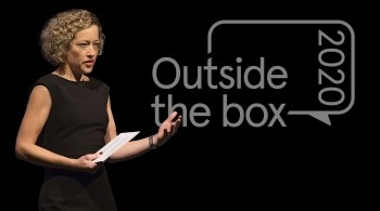 Cathy Newman presenting Outside the box 2020