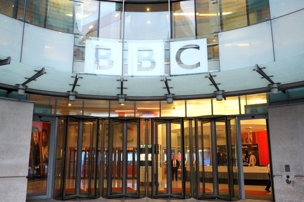 The entrance to the BBC