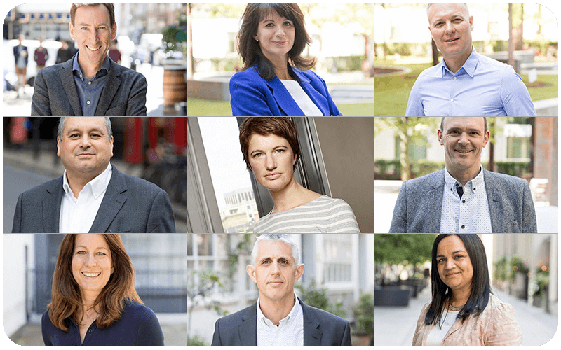 Headshots of the Freeview and Digital UK leadership team