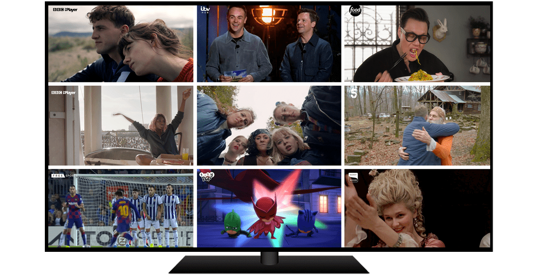 A year in Freeview - collage of TV shows